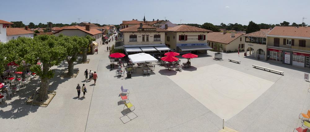 Le2bis Atelier - Vieux-Boucau-Les-Bains -Aménagement des espaces publics du centre bourg - 2013