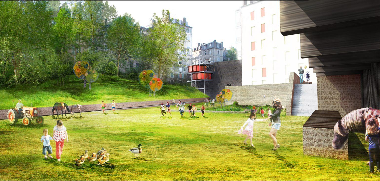 Le2bis Atelier - Pau - Aménagement du Quartier du Hédas - Perspective - 2017