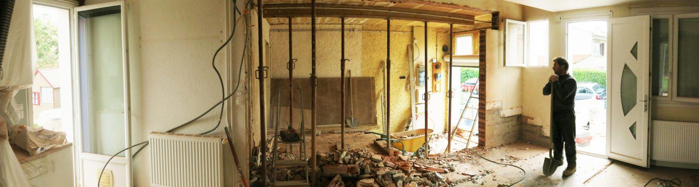 Le2bis Atelier - Rénovation Villa V - L'union - Ouverture Mur Porteur