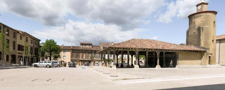 Le2bis-espaces publics Saint-Félix Lauragais - limiter la place de la voiture - aménager simplement - intégrer les contraintes - multiplier les usages - valoriser le patrimoine