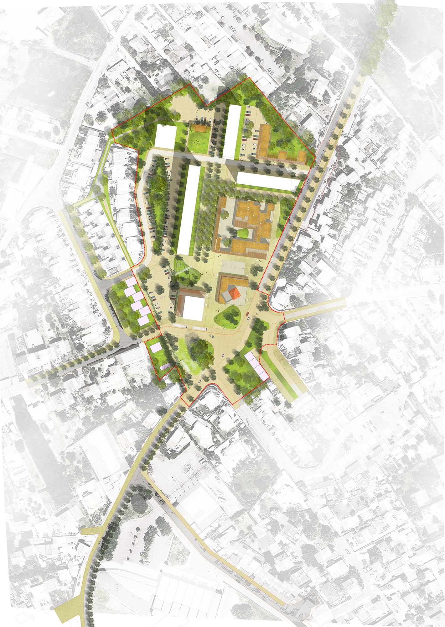 Le2bis-Concours Lentajou - Plan du futur quartier Lentajou - Renouvellement urbain