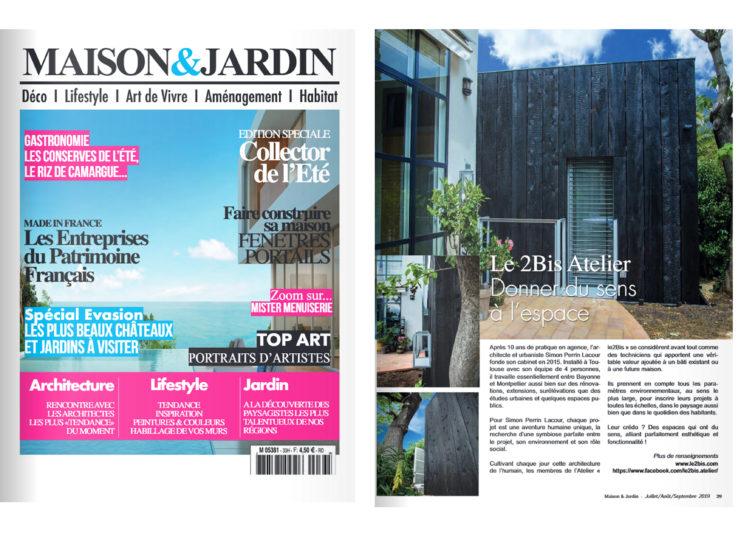 Le2bis-Agence d'architecture toulouse-Maison et Jardin-Publication-Extension Bois Montpellier