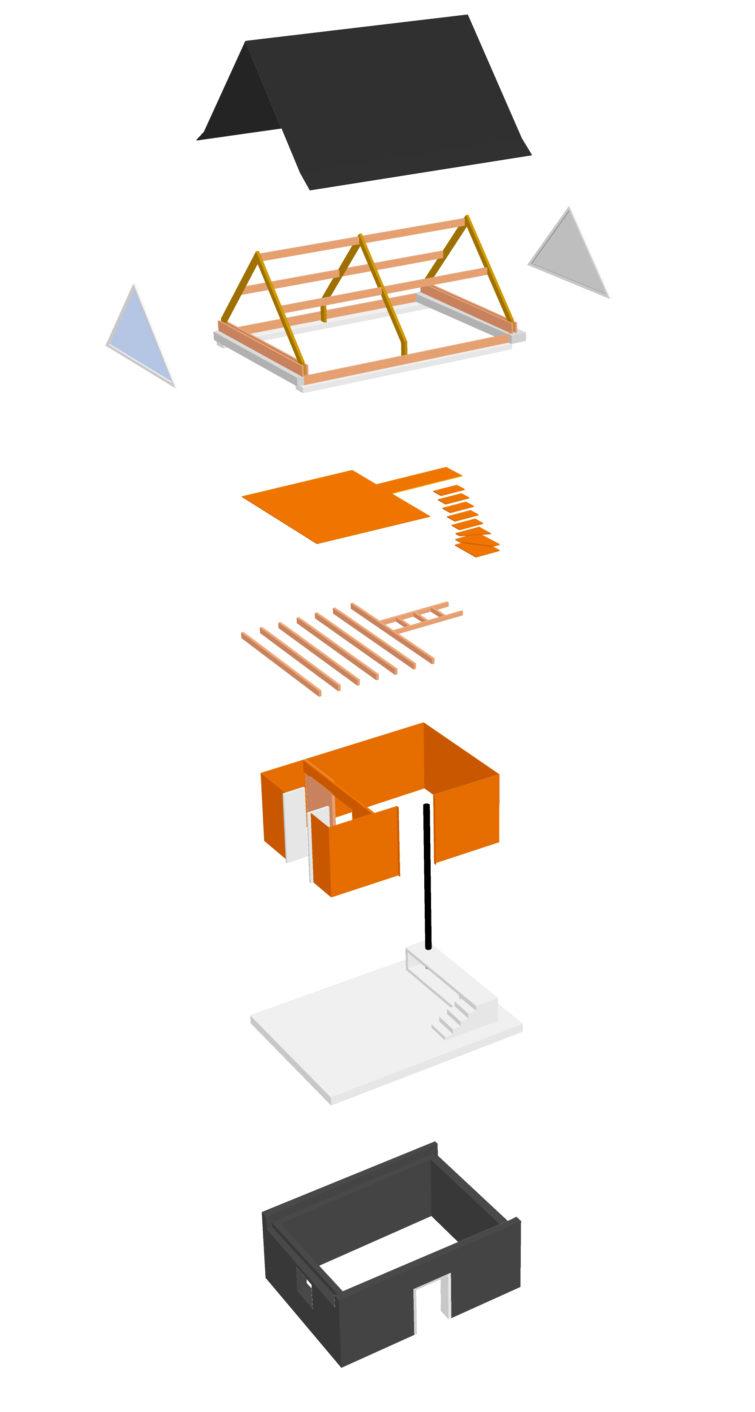 Le2bis-Rénovation grange-Principe-Assemblage