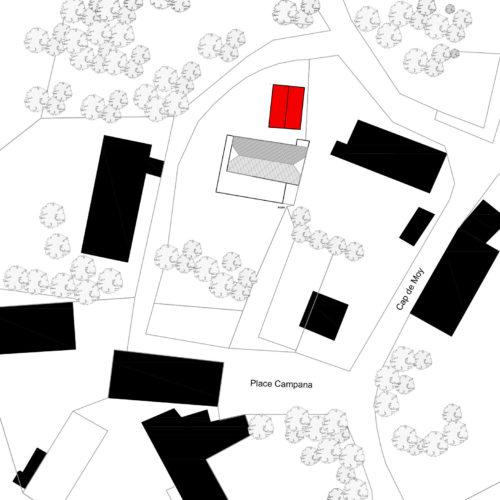 Le2bis-Agence d'architecture toulouse-Rénovation grange-Plan de masse-Implantation
