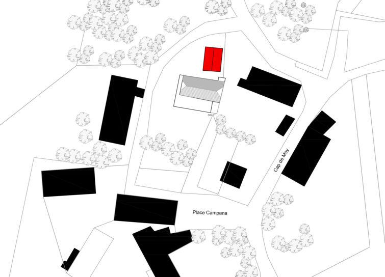 Le2bis-Rénovation grange-Plan de masse-Implantation